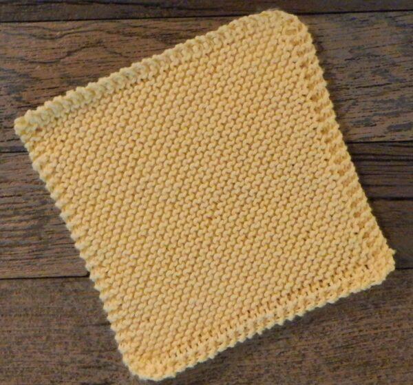 Yellow Vanilla Dishcloth